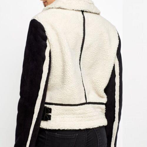 Winter Urban Soft Warm Fluffy Teddy Bear Faux Fur Short Jacket S M L XL 805
