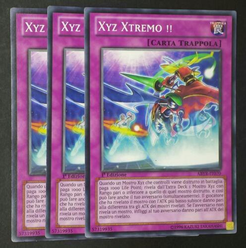 Set 3 Carte Comune in Italiano ABYR-IT070 YUGIOH XYZ XTREMO !