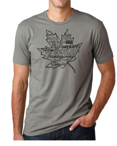 FALL LEAF Leaves Fall Autumn Harvest Pumpkin Cute Men/'s /& Women/'s Unisex T-Shirt