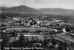 Cartolina-Postcard-Malo-Panorama-Ippodromo-Marchioro-1957