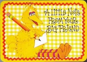 wdd-Postcard-Big-Bird-A-Little-Note