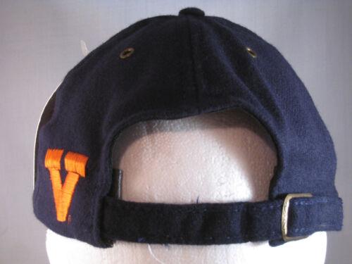 VIRGINIA CAVALIERS NEW FOOTBALL HAT NAVY WOOL BLEND FLAT BRIM