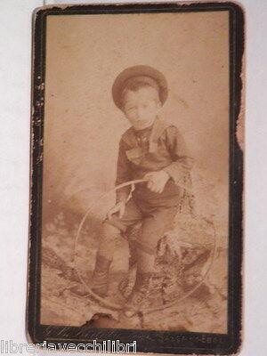 Vecchia foto carte da visite G B BERTOLANI Salerno Eboli Marinaretto Bambino del