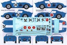 decal 1/43 FERRARI 250 GTO '62 Ch.3607GT + Ch.3987GT RENAISSANCE DU302C