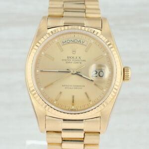 Rolex-President-Oyster-Men-039-s-Watch-18k-Gold-Day-Date-18038-Tags-Box-Warranty