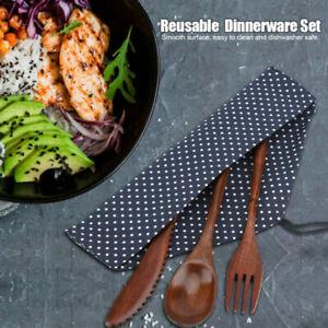 Wooden-Dinnerware-Set-Bamboo-Fork-Knife-Soup-Teaspoon-Cutlery-Cooking-Kitchen