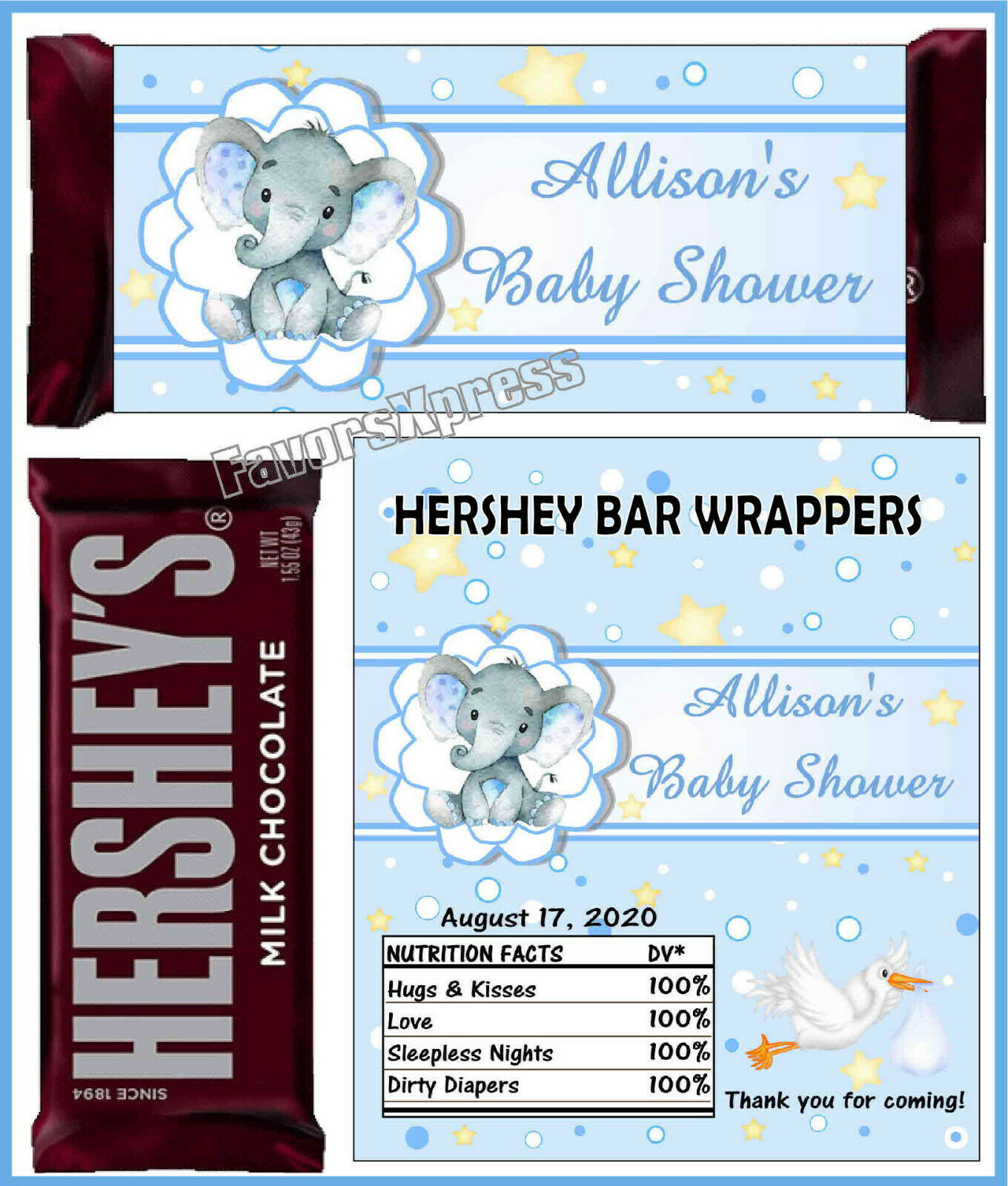 Cherry Blossom Bridal Shower Candy Bar Wrappers for Chocolate Bars Favors Sweet 16 Wedding Chocolate Not Included Set of 12 40th-50th-60th Birthday for Bridal Shower Baby Shower