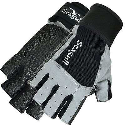 Sticky Palm Sailing Gloves Dinghy Yachting Roping Boating Amara Cut Finger M