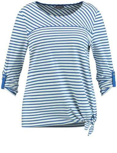taille 44 48 46 blanc avec bandes royales Prix Recommandé 49,99 50 SAMOON T-shirt