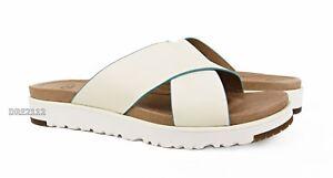7b3a4a99b75 UGG Australia Kari White Leather Sandals Womens Size 6.5 *NIB ...