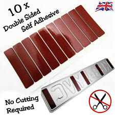 10 CAR NUMBER PLATE FIXINGS STICKY PADS DOUBLE SIDED SELF ADHESIVE WATERPROOF
