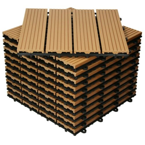Dove acquistare Matonelle in WPC per terrazze balconi pavimento 30x30cm giardino legno teak 1 m²