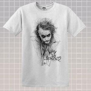 JOKER-SKETCH-T-shirt-Retro-Gotham-Comic-Why-So-Serious-Tee-Vintage-DC-Villain