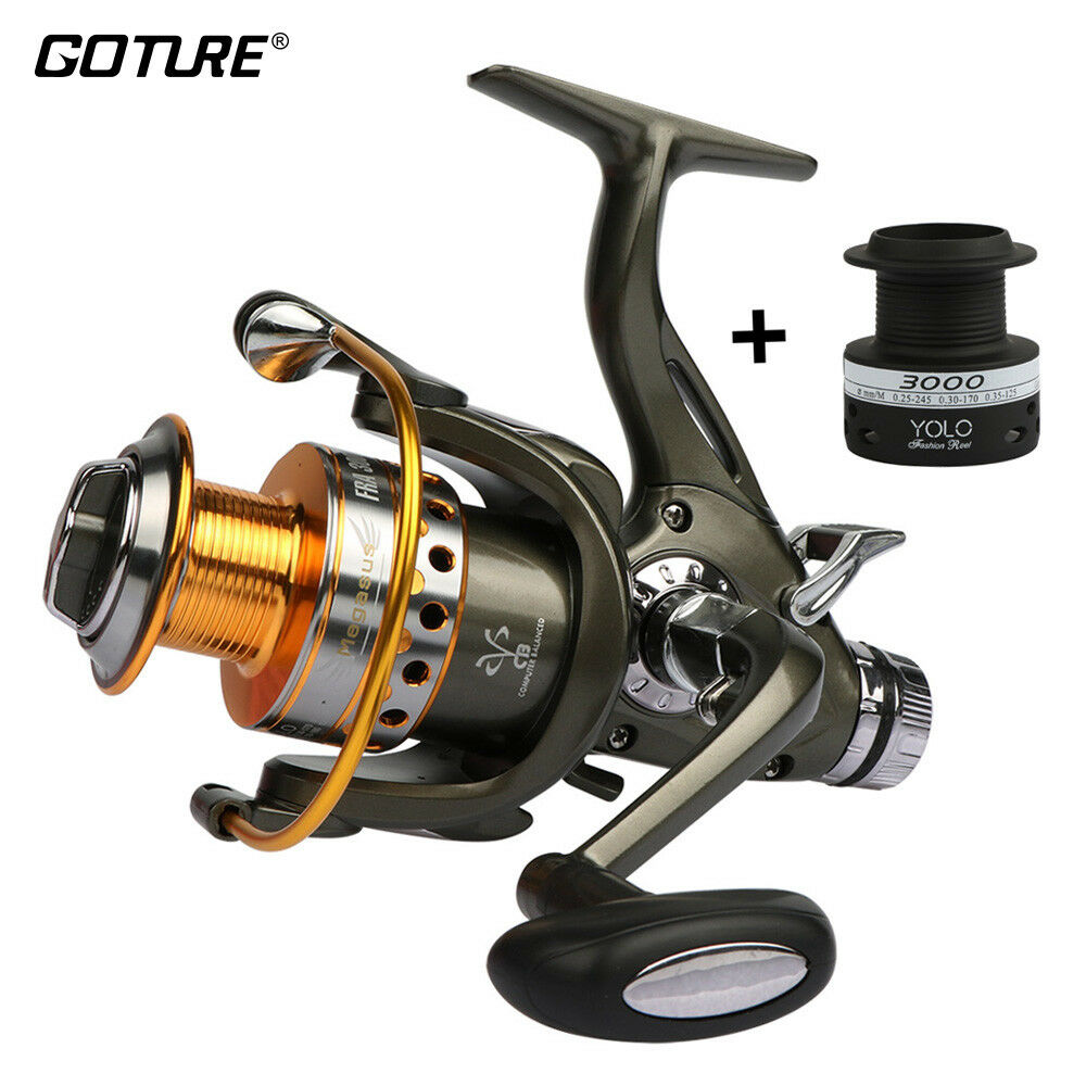 Goture Spinning Fishing Reel Double Drag Wheel Metal Spool Carp Reel 5.2 1