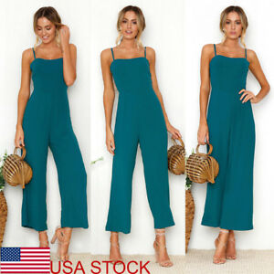 Women-039-s-Clubwear-Playsuit-Bodysuit-Party-Jumpsuit-amp-Romper-Beach-Long-Trousers