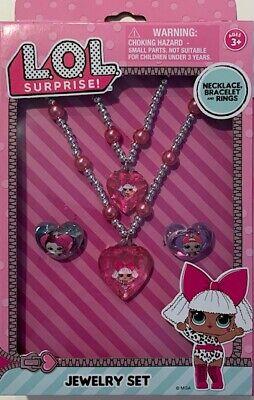 Surprise Bracelet /& Rings Kids Ages 3+ Jewelry Set Includes Necklace L.O.L