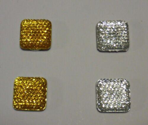 1 Pr Square Crystal  Magnetic Jewel Clasps Closures Skirt Hijab Scarf Abaya Cape