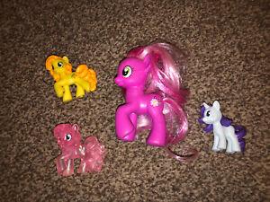 Muito Bom Estado Pacote My Pony Raro Little Cherilee G4 + 3 Saco Cego Pôneis