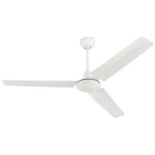 Industrial White Finish Ceiling Fan 78127 56 in
