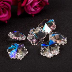 5Pcs-Snowflake-Shape-Glass-Beads-Pendant-DIY-Jewelry-Making-Decor-Crafts-Bead
