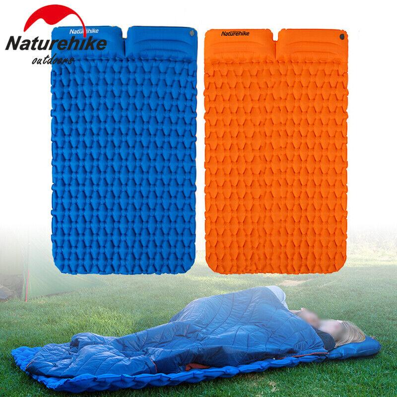 Ultra Leggero Doppio Cuscino Sleeping Panno Gonfiabile Tenda Portatile Campeggio