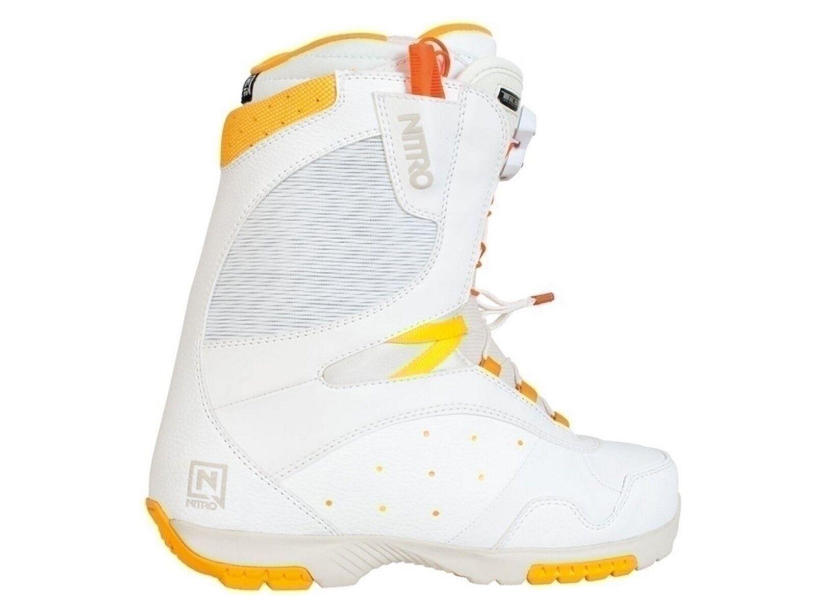 SCARPONI SNOWBOARD DONNA NITRO  848283 002  CROWN TLS bianca arancia giallo