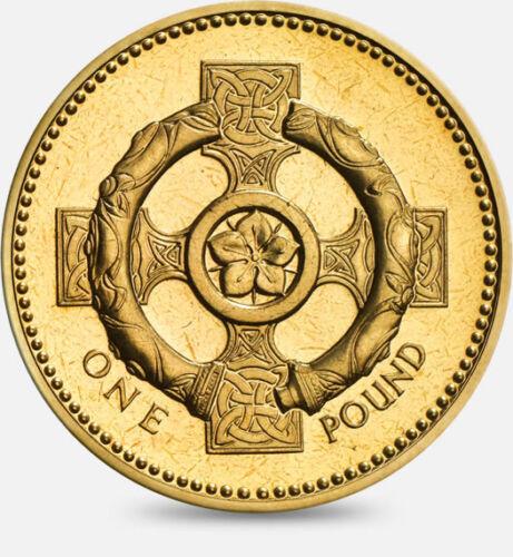 2001 UK £1 BU Northern Ireland Celtic Cross Mint One Pound UNC Uncirculated
