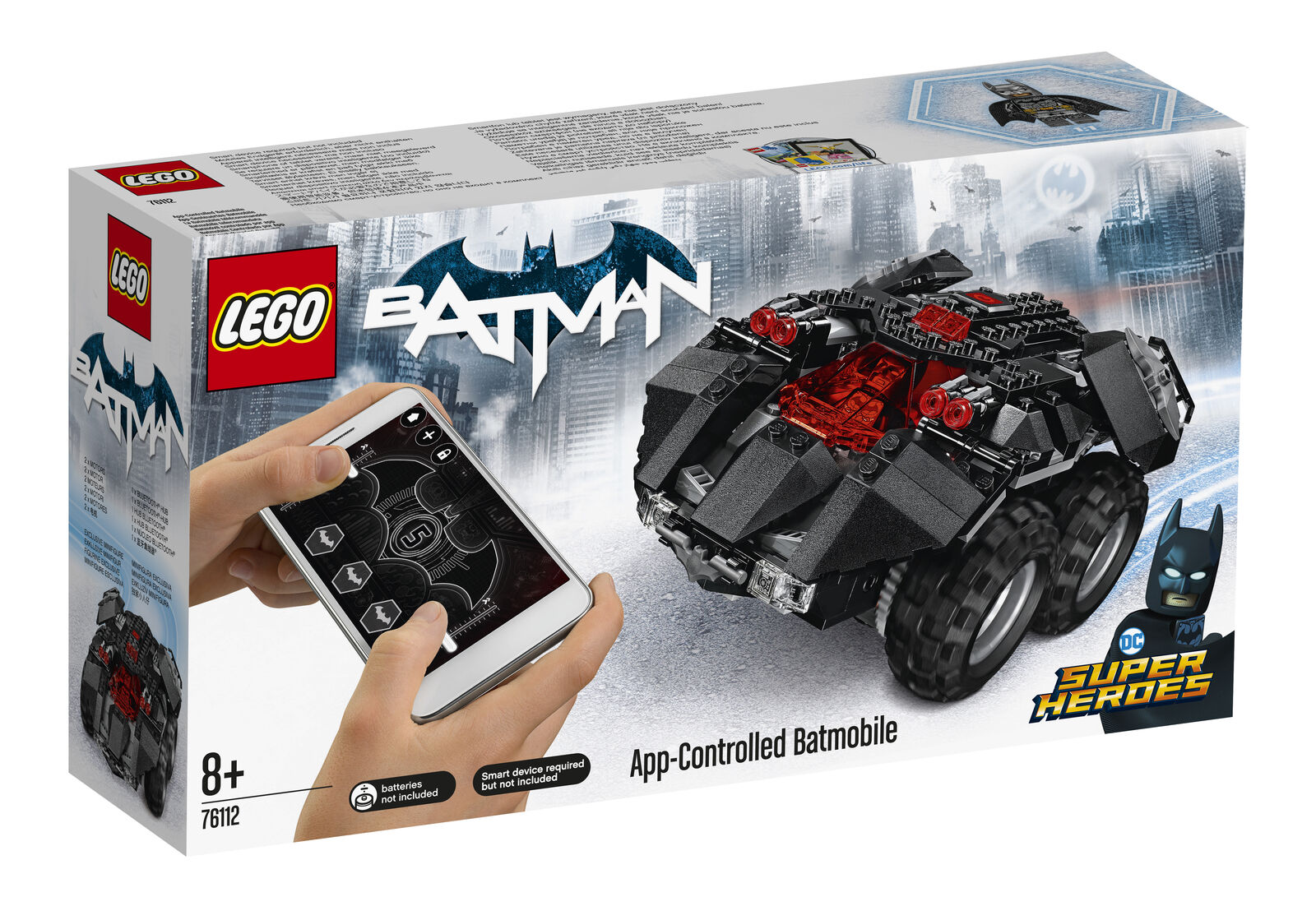 LEGO DC Comics Batman App Controlled Batmobile Toy Car Model 76112 (8+ Years)