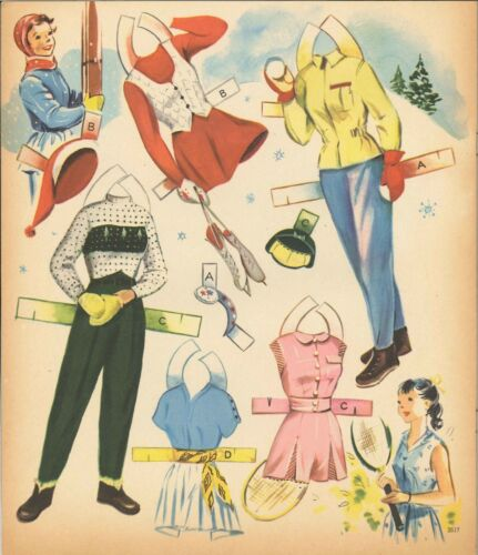 VINTAGE 1953 MERRY TEENS PAPER DOLL ~LASER REPRODUCTIN~ORG SZ UNCUT NO1 FREE S/&H
