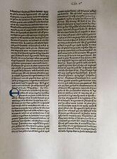 Original Blatt aus der KOBERGER BIBEL 1475, Nürnberg, rubriziert Inkunabel