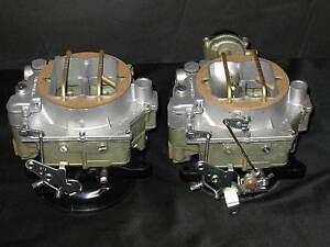 1957-1961-Dual-Quad-Carter-WCFB-Carburetors-Corvette-Chevy-283-270HP-2613s-2614s
