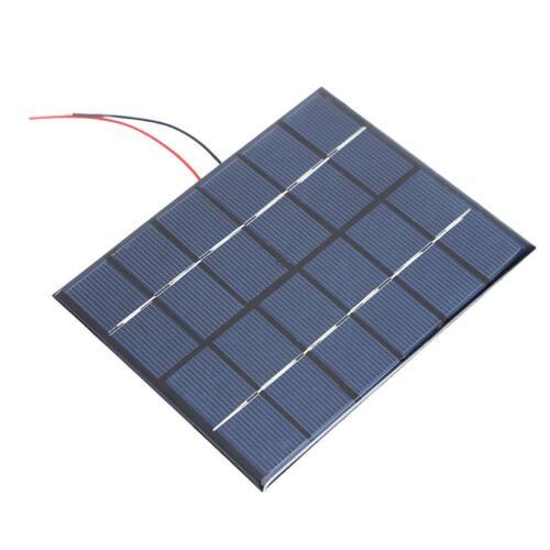Portable 2W 6V 330mA Polysilicon Solar Power Panel DIY Kit Battery Panel
