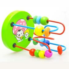 high quality Kids Baby Colorful Wooden Mini Around Beads Educational Game Toy G