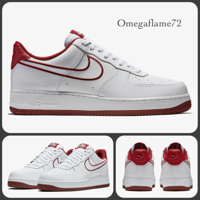 Nike Air Force 1'07 Leder aj7280 100, Sz UK 12 EU 47.5 US 13, weiß af1