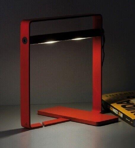 7W LED Tischleuchte Oring rot Nachttisch Lampe Schreibtisch-Leselampe Tischlampe