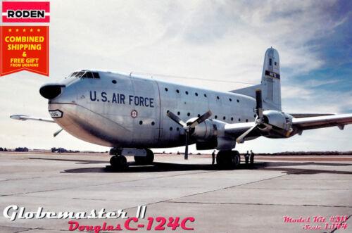 Roden 311 Douglas C-124C Globemaster II 1947 aircaft american 1//144 scale model