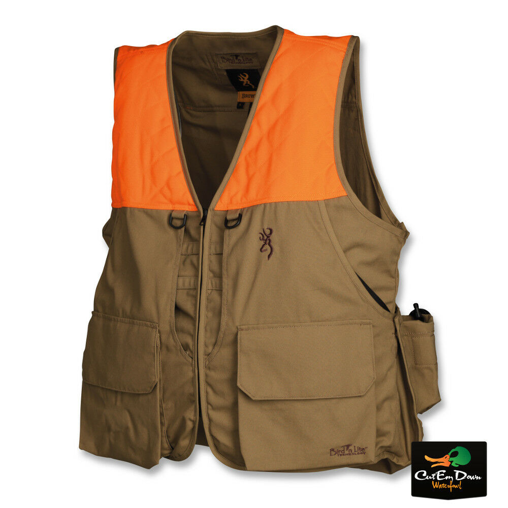 NEW BROWNING BIRD-N-LITE PHEASANTS FOREVER VEST KHAKI   BLAZE WITH OUT LOGO