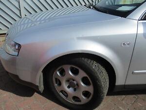 2000-2004 Audi a4 b6 8e2 Garde-boue ly7w Lake Silver Metallic Gauche Nouveau Bj