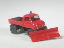TOP: Wiking Sondermodell Unimog Feuerwehr mit Schneepflug