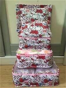 Hello-Kitty-Apples-6pcs-Luggage-Organizer-Set-Storage-Suitcase-Packing-Bags