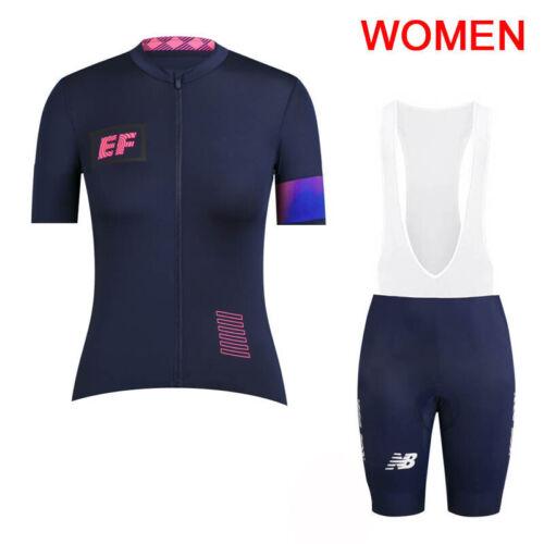 2019 Women cycling jersey Bib shorts Set Sportswear racing Wear Bike uniform H63