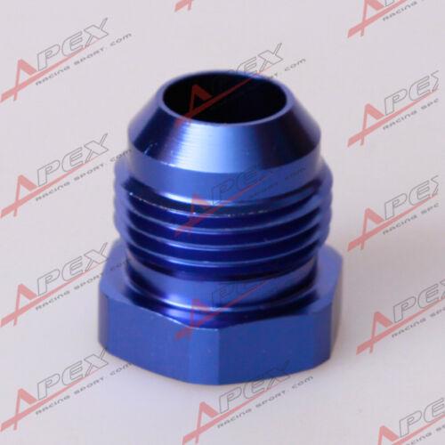 6AN AN-6 Male AN6 Flare Plug Fitting Aluminum Blue AN Plug