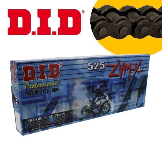 DID Drive Chain 525 ZVMX X-Ring 106 Members Rivet Link Gold 525zvmxggx106zb