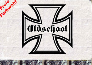 iron cross aufkleber eisernes kreuz oldschool 10x10cm ebay. Black Bedroom Furniture Sets. Home Design Ideas