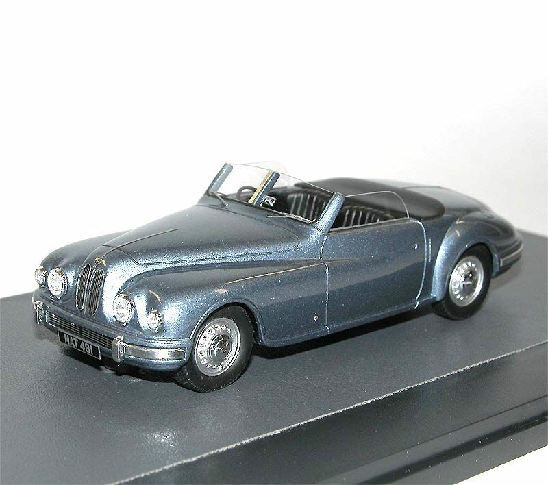 MATRIX SCALE MODELS 1949 Bristol 402 DHC Open Drophead Coupe bleu Metallic 1 43