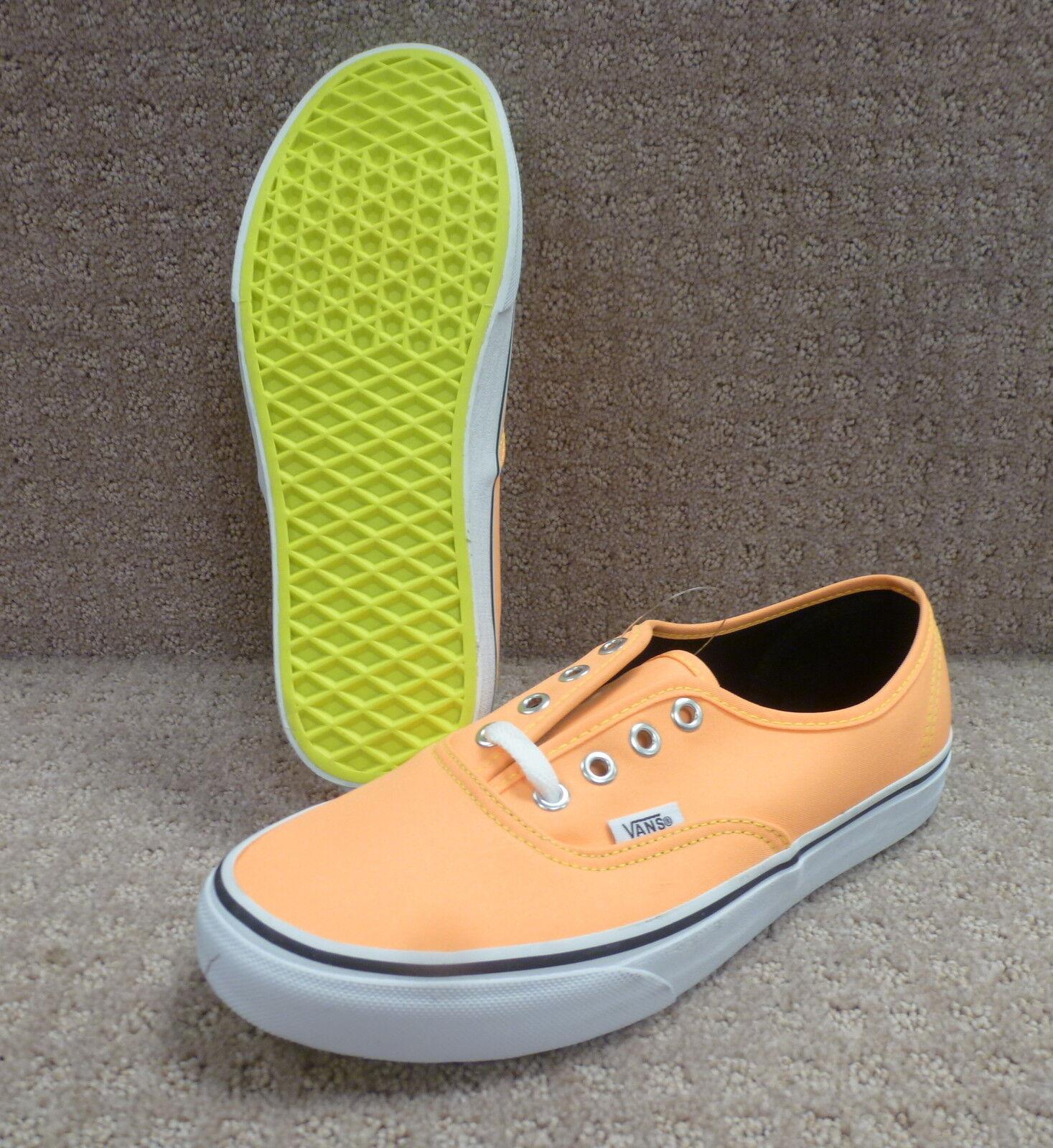 Vans Men's shoes's Authentic color (Neon) orange Yellow