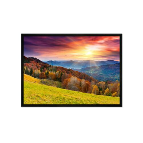 Details about  /3D Sunset Mountain View 1 Framed Poster Home Decor Print Painting Art WALLPAPER