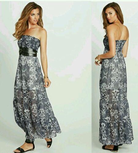GUESS Silk Moroccans-Print Maxi Dress