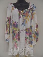 Plus Size 3X FLORAL Top Shirt PEASANT Blouse CROCHET Cruise BOHO  Trendy NWT
