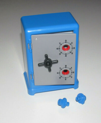 Playmobil Coffre Fort Tirelire Bleu Programmable 7 x 9 x 5 cm NEUF